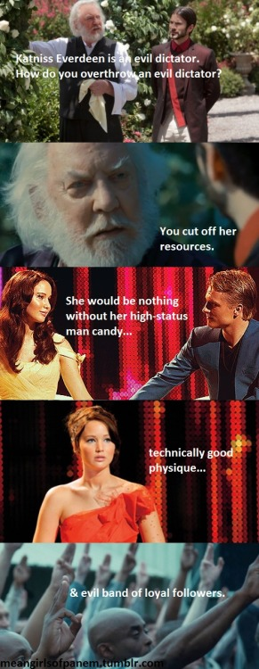meangirlsofpanem:  Evil dictator? No. Mockingjay? Yes.