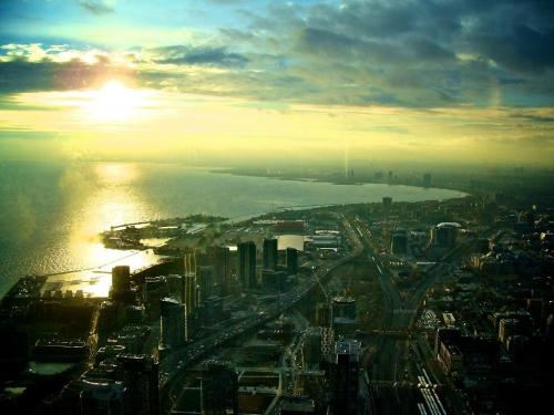 Vista de Toronto desde la CN Tower || View of Toronto from the top of the CN Tower