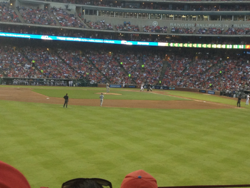 Amazing seating for the rangers.