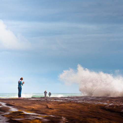 Via Flickr: People & Waves