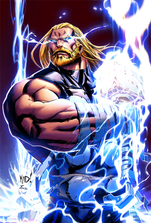 Thor // artwork by Joe Madureira, Ben Jones and Etienne St Laurent (2012)