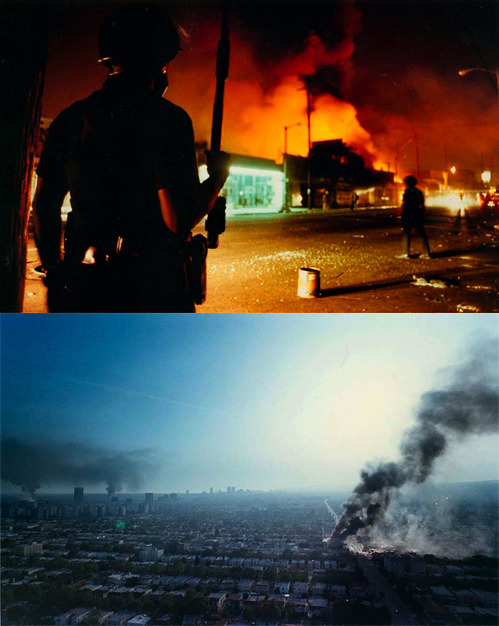 nevver:  L.A. Riots start 20 years ago today - Burn Baby, Burn.