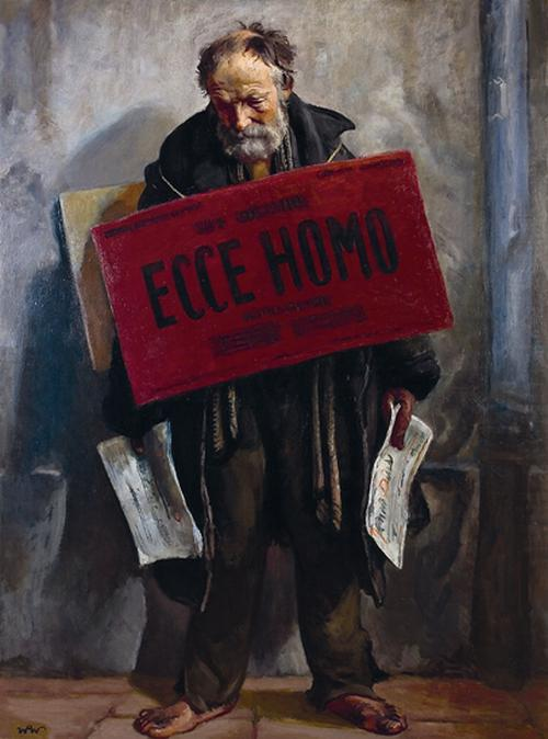 "jeoblivion:  Wojciech Weiss, ""Ecce Homo"" , oil on canvas, 1934, 180x132 cm, private collection"