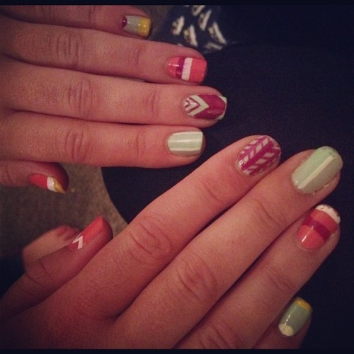 Nails by Brando. So pretty!! (Taken with instagram)