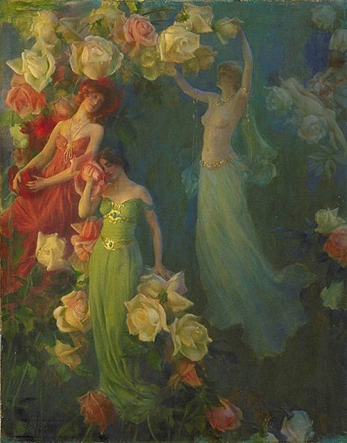 23silence:  Charles Courtney Curran (1861-1942) - Perfume of Roses