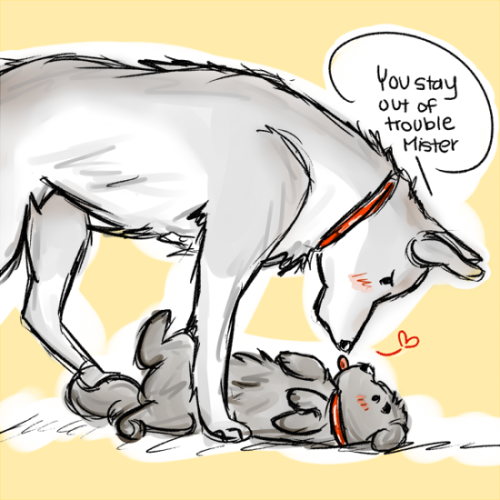 tealeafs:  Puppy!blaine and puppy!cooper o3o  OMG <3