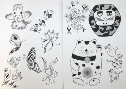 First 2 sheets for the sketchbook by Carla.