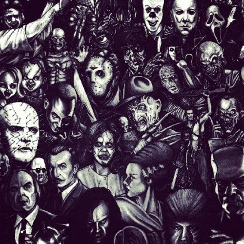 Can you guess them all?! #game #guess #guessing #horror #thriller #killers #vampires #clowns  (Taken with instagram)