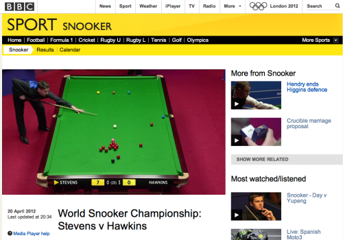 Physics meets snooker?
