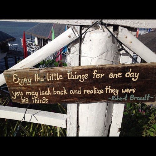 Beautiful quote taken in Stilts, Calatagan. :) (Taken with instagram)