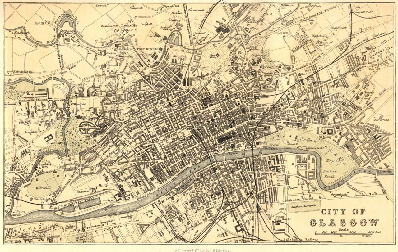 Map of the city of Glasgow