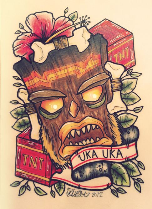 "Uka Uka Print - 7 x 10"" Limited run of 25. http://danielletaylorillustration.bigcartel.com"