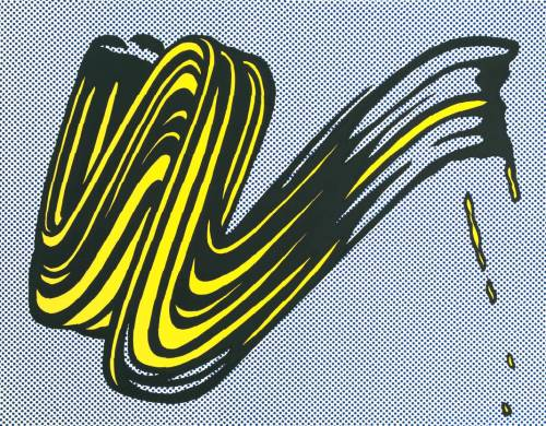 fckyeaharthistory:  Roy Lichtenstein - Brushstroke, 1965. Screenprint on paper