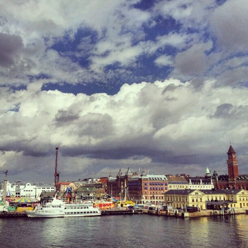 hallenius:  View over #Helsingborg (Taken with instagram)