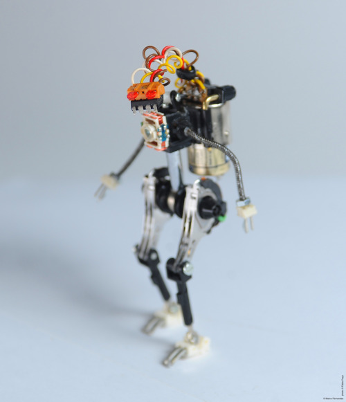 R³bots - recycled, reused and  rebuilt from trash. Posable action-figure robots. #R³bot zeropointtwo - DGT (sold)
