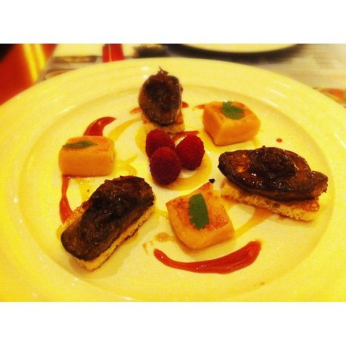 Pan-seared French Foie Gras #food  (Taken with Instagram at Cafe Deco, Venetian Macao)
