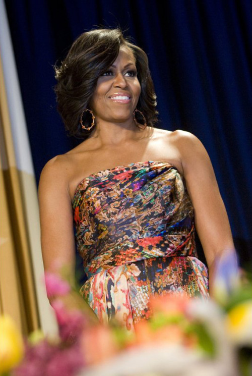 Flawless. At the 2012 White House Correspondents Dinner.