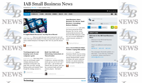Today's edition of IAB NEWS, on Sunday April 29, 2012.