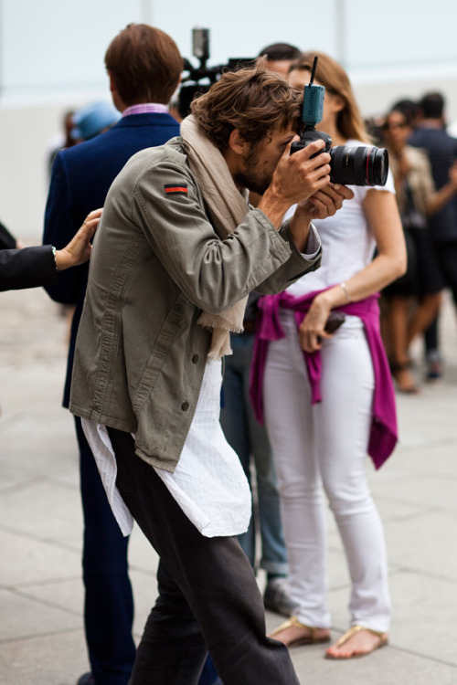 On the Street….Short Over Long Part II, Paris by The Sartorialist