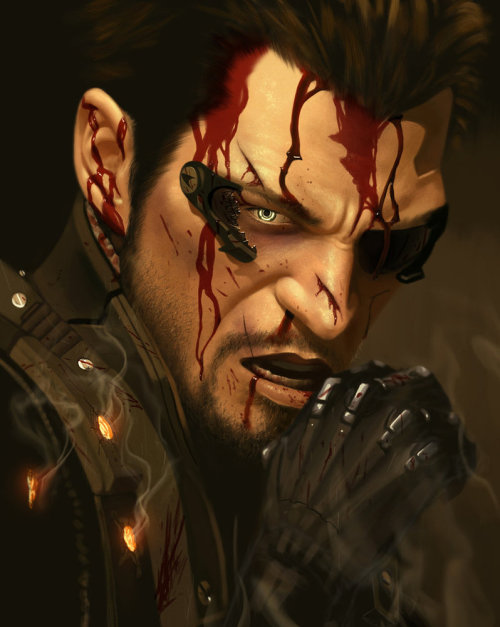 Deus Ex: Adam Jensen - by Houston Sharp DeviantART || CGHUB || Facebook