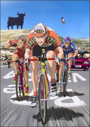 Im about to watch Nasu: Summer in Andalusia, an anime movie about cycling:  Nasu is about a Spanish cyclist in the Vuelta a España during which the current stage passes through his hometown. He must also cope with the fact the stage is on the same day as his brother's wedding to his ex-girlfriend, and that sponsor is threatening to fire him if the team doesn't produce a win.  I found a streaming link here. Enjoy!
