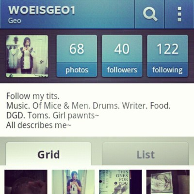 Follow me on instagram!  (Taken with instagram)