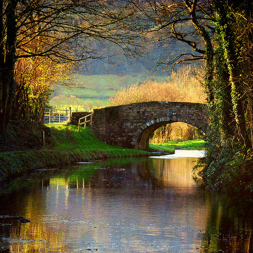 bluepueblo:  Brecon Canal, Monmouthshire, Wales photo via things  I've canoed there :)