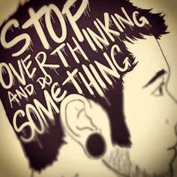 #stop #overthinking #hipster #retro #boy #gauge #ears #stud #hair #brain #black  (Taken with instagram)
