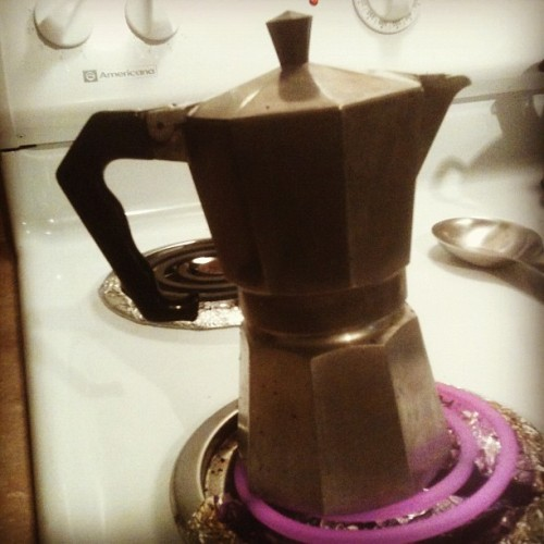 Ol' Skool #stovetop ~ #coffee #CoffeeIsMyCrack (Taken with instagram)