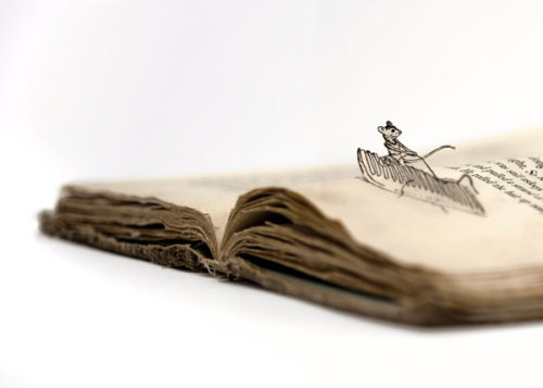 Adorable Stuart Little Book Cut artwork by Thomas Allen