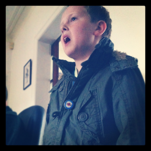Little brother repping the Parka, MOD.
