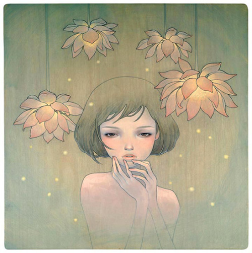 zinnnia:  If Only You Were Here by Audrey Kawasaki, 2008.