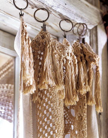 inspirationlane:  (via Tea-Stained Linens and Lace - Country Living)