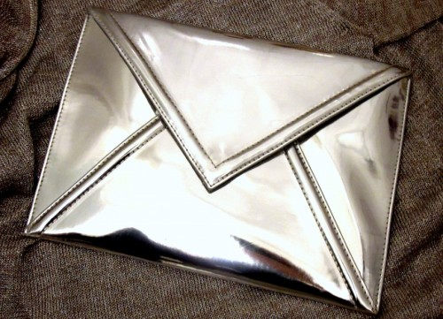 chrome clutch. Yum.  styletrove: