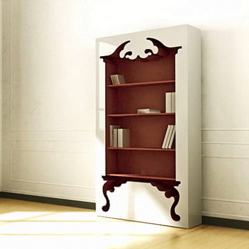 Vintage Bookcase Deep Red 31% off now featured on Fab.Fab.comThe Vintage bookshelf by Munkii fuses a flamboyant Baroque style with contemporary simplicity, and the result is a breathtaking modern design capable of adapting to literally—and we do mean literally—any interior setting. Meant to be more than an average fixture, the bookcase's overwhelming presence creates a bold centerpiece statement—and a lasting abode for your beloved literature (or any trinket you want to display so badly).