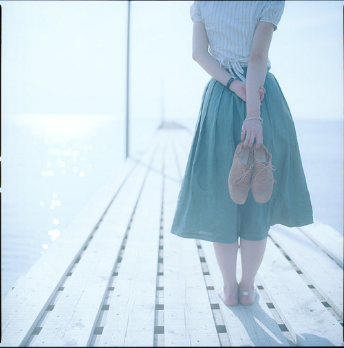 her brown shoes by yu+ichiro on Flickr.