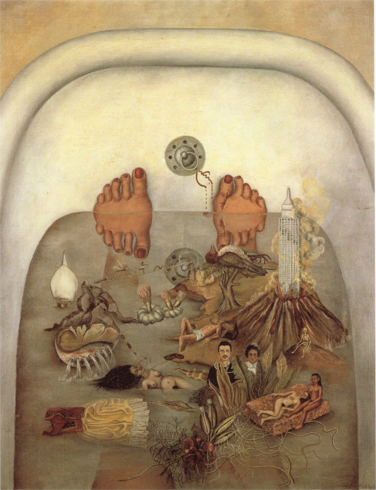 Frida Kahlo – What the Water Gave Me, 1938. Oil on canvas Submitted by virginite