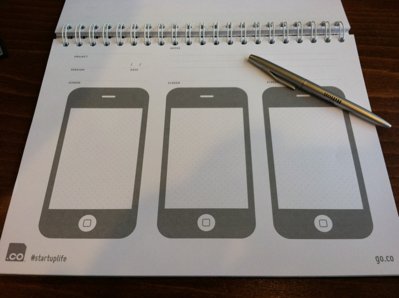 iPhone IOS design sketchpad…i need to get something like this. Seems like a great tool for sketching out apps.