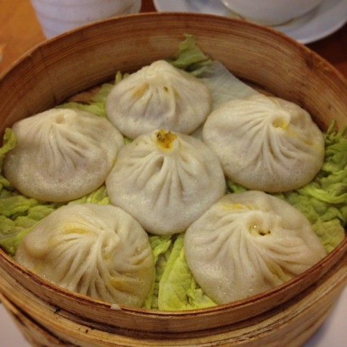 The best Soup Dumplings in all NYC. No filter needed! (Taken with Instagram at Nan Xiang Dumpling House, Flushing)