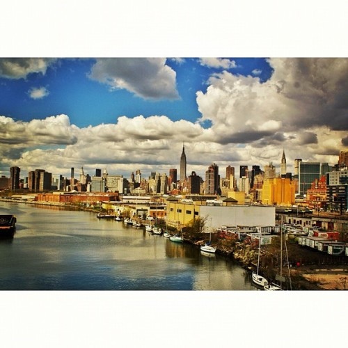 The view from the #Pulaski #Bridge #ESB #newyork  (Taken with instagram)