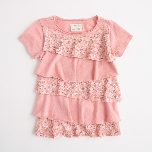 [Girls' Sequin Ruffle Tee by J. Crew]