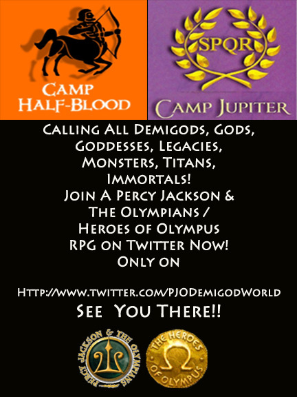 pjodemigodworld:  Calling all demigods, gods, goddesses, titans, monsters, legacies, immortals and the like! Greek & Roman! PJODemigodWorld wants YOU to role play with them! Hurry and Tweet http://www.twitter.com/PJODemigodWorld now! Many characters still open!