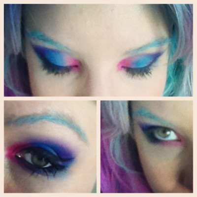 Make de hoje: Azul+Rosa (Taken with instagram)