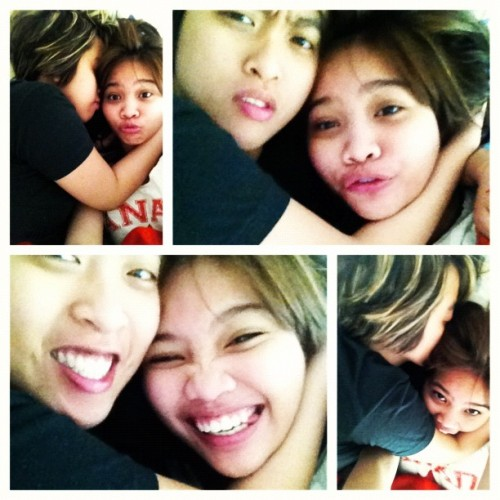 #picstitch good morning wakey cuddle w/ wifey!  (Taken with instagram)
