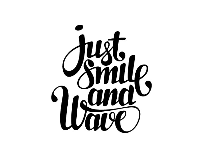 iloveligatures:  Just Smile and Wave by Doris Poligrates