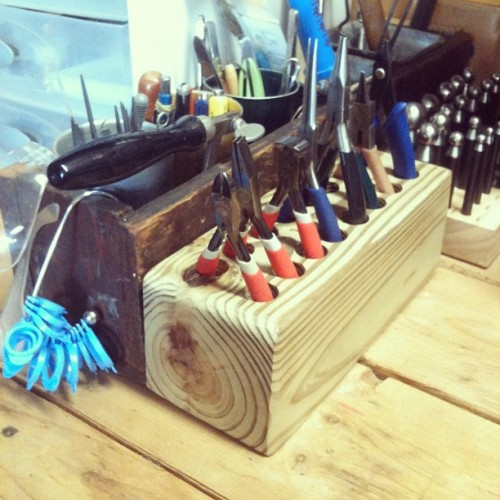 Happiness is a handmade plier caddy. (Taken with instagram)