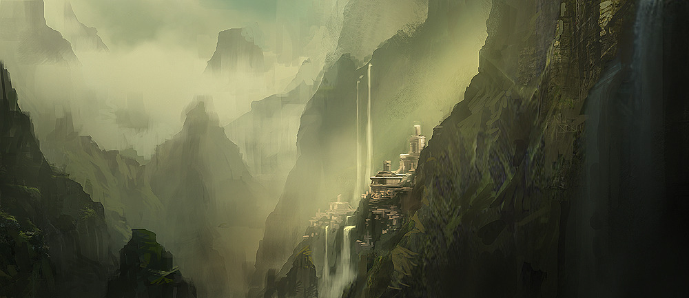 game-art:  Shambala, Concept Art | Uncharted 3