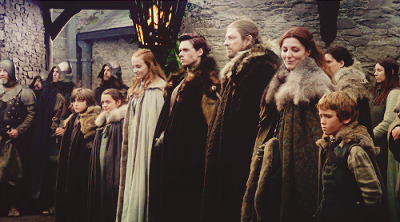 gendrybaratheonn:   #the most doomed family in the history of doomed families #i feel like this is the most painful part of rewatching the first episode #you see this family that actually does love each other #and then in the second episode they all go their separate ways #and no one was happy ever again