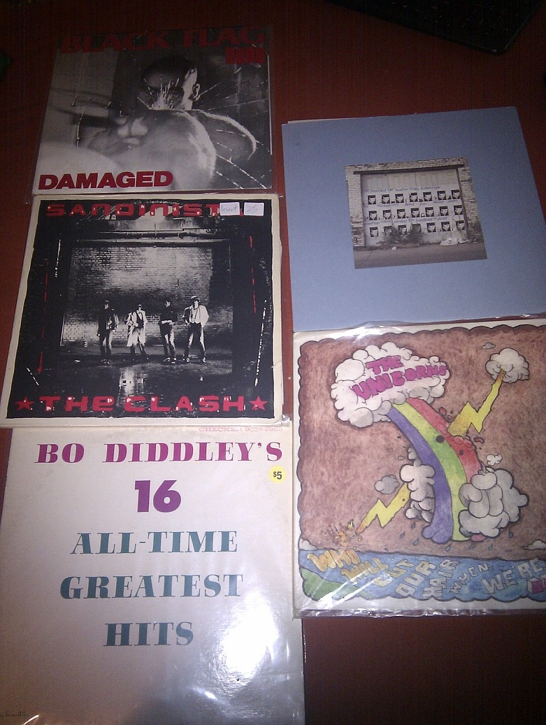 Grabs from the Hamilton record swap meet at The Brain.