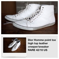 Attn shoe dudes! Found these while cruising eBay. Dope. #shoes #dior (Taken with instagram)